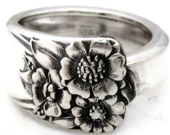 Spoon Ring April Sunflower Pattern