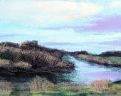 Twilight on levee road 16 x 40