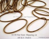 20 Antique Bronze Oval Link Connector Rings Plated Brass 25x10mm - 20 pc - F4005LK-AB20 - Select Qty