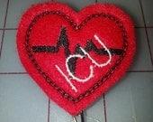 ICU Heart EKG Trace retractable badge pull