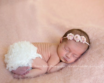 Dusty Pink Mini Rose Headband/Halo-Newborn to adult sizes-Photography Prop-Made to order