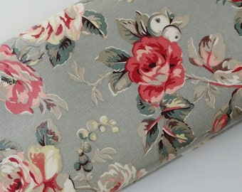 3536 - Cath Kidston Garden Rose (Light Brown) Oilcloth Waterproof Fabric - 28 Inch (Width) x 17 Inch (Length)