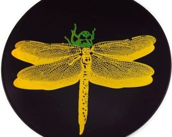 Black Dragonfly Silicone Kitchen Trivet, Table Placemat,  Kitchen Hot Pad, Table Mat