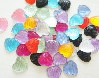 SALE Assorted 20 pcs Bling Heart Gems/Rhinestones (19mm20mm)  AA011 (((LAST)))