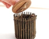 Miniature Garden Compost Bin for Mini Garden, Fairy, Terrarium, Desk, Office Garden. Handmade. OOAK