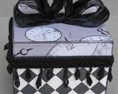 Chic Harlequin Black and White Keepsake Decorative Jewelry Trinket Box