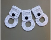 Towel Holders , Crochet Towel Hangers, Housewarming Gift, Home Decor,Removable, White