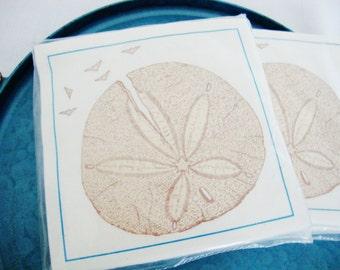 sand dollar vintage paper napkins beach cottage 2packages