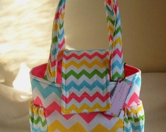 Small Riley Blake Girl Chevron Toddler Short Trip Diaper Bag NEW