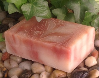 Peppermint Swirl Soap, vegan, 5 to 6 ounce bar, no pigments, dyes or synthetic fragrance oils