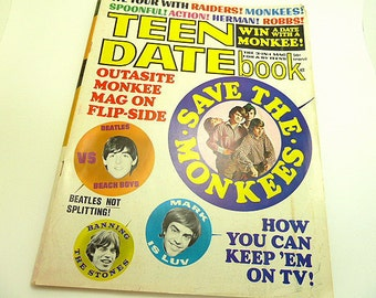 Vintage Teen Date Book Teen Idol Magazine