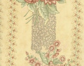 Old Primrose Inn - Moda Fabric - 2640 -11 - Lemon Cream - Border Print - Blackbird Designs