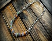 Evergreens, Western Cowgirl Southwestern Boho- Hand Knotted- Earthy Artisian Rustic Country Gemstone Necklace