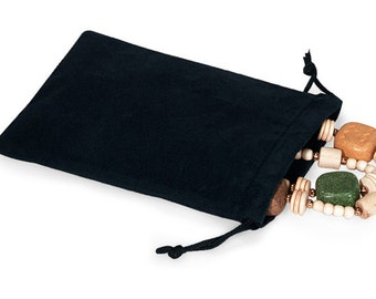 100 Pack Velvet Drawstring Bags great for Weddings, Party favors, Jewelry, Etc 5X7 Inch Size