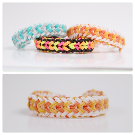 How To Make The Basket Weave Rainbow Loom : Items similar to rainbow loom small basket weave mac and