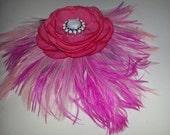 Pink, Gatsby,pink  fascinator, wedding, new year eve, vintageinspired, roaring 20s, boho, bridal, pink fascinator