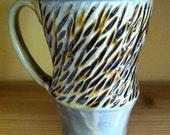Amber Carved Mug