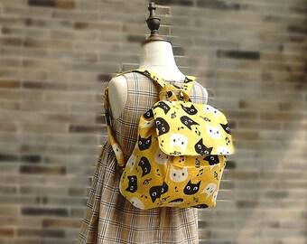 Kids Backpack Toddler Kids Girl's Boy's Bag Handmade by Japanese Kokka Fabric Free Shipping
