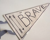 Teepee Flag 'Be Brave' Children's room decorative flag banner pennant, festival,wallhanging kids room