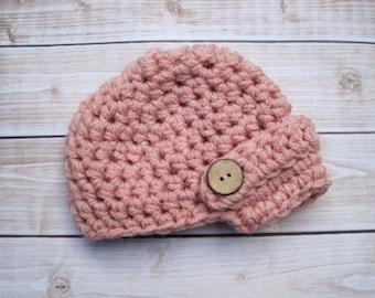 Baby Girl Newsboy Hat, Baby Girl Hat, Crochet Baby Hat, Newborn Beanie, Baby Newborn Hat, Baby Girl Beanie, Newborn Baby Hat, Infant Beanie