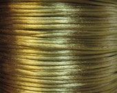 Coffee Golden Brown Satin Rattail Cord 1mm 6 yards for Macrame Kumihimo Knotting