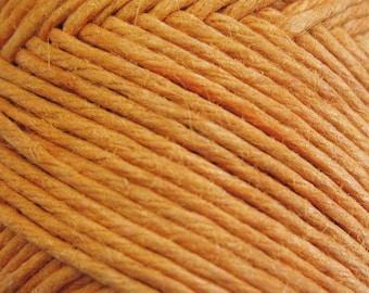Orange Sunset Hemp Macrame Cord Twine 30 ft