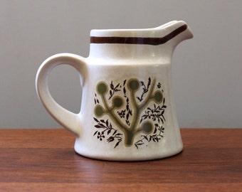 Vintage Noritake China creamer. Green Tea pattern.