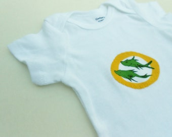 Two Fish Onesie For Baby (0-3 months)