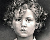 Divine Child Rolls On - Pencil Drawing - Beings of a Golden Kind