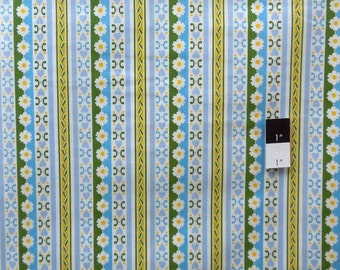 Jennifer Paganelli PWJP074 Circa Bradlee Blue Cotton Fabric 1 Yard