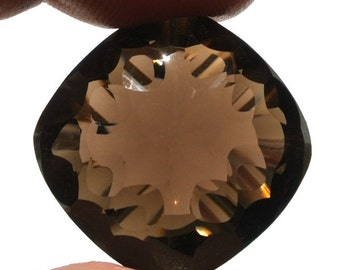 High Quality Genuine AAA Smoky Quartz Concave Cut Cushion Briolettes Size 24.5mm 1 Piece