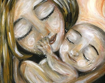 Possibilities - Archival 12x12 signed motherhood print from an acrylic painting by Katie m. Berggren