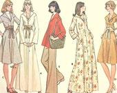 Vintage 70's Sewing Pattern, Misses' Dress, Size 10, Boho