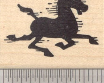 Horse Silhouette Rubber Stamp, Mustang D24109 WM
