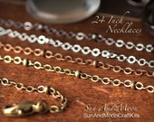 5 ~ Petite Beaded Oval Link Necklaces Small Vintage Bead Design Chain ~ Jewelry Necklace ~ 24 Inch