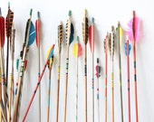 Vintage Colorful Archery Arrows - 5 Selected