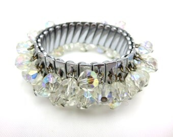 AB Glass Chacha Bracelet - Beaded Expansion Bracelet