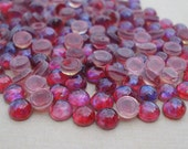 5mm Mexican Opal Dragon's Breath Czech Preciosa Unfoiled Flat Back Round Glass Cabs or Stones (12 pieces)