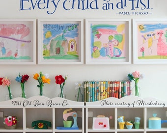 Every child is an artist - vinyl wall decal graphic