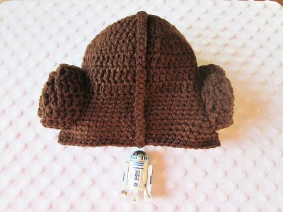Crochet Pattern Princess Leia Hat : Star Wars Princess Leia Inspired Crochet Hat by CarolCoDesigns