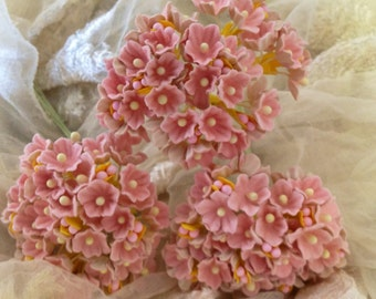 Vintage Style Millinery Flowers Forget Me Nots -  Pink