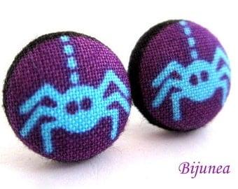 Spider earrings - Halloween earrings - Halloween spider studs - Spider studs - Spider post earrings sf1071