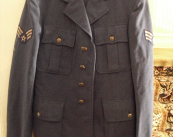 "Vintage 1950's Air Force Dress Uniform "" I dream of jeannie"""