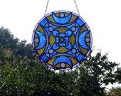 Mandala Stained Glass Panel