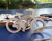 Personailzed mini bicycles - engraved wood, quantity 100