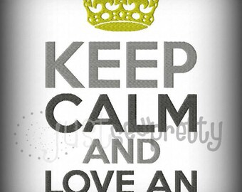 Keep Calm Love An Officer Embroidery Applique Design