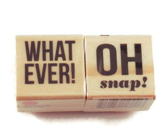 Mini  Rubber Stamp Set  -  Oh Snap