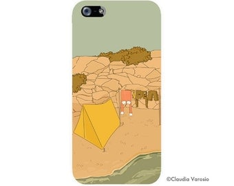 Moonrise Kingdom illustrated Iphone case