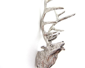 Pewter Elk Head Mount