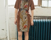 Dress Rust colored Corduroy and Africain Print